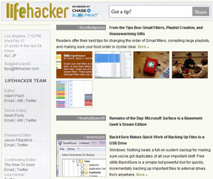 Lifehacker a decent but aggregate tech site