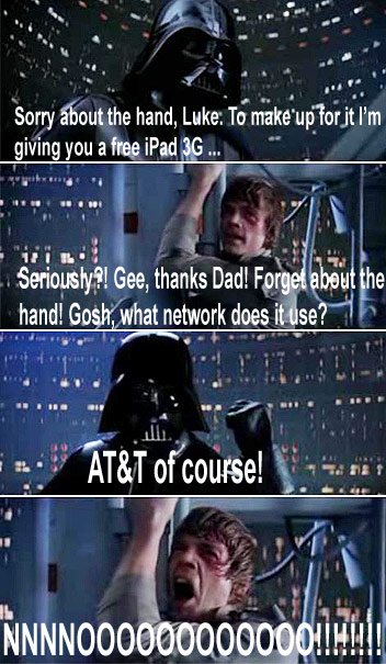 Vader gives Luke an iPad